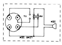 Midland Alan 18 - mikrofon 4 piny, zerwane kable