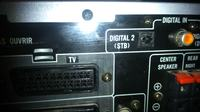 AMPLITUNER JVC RX-E100R - połączenie kablem optycznym z TV.