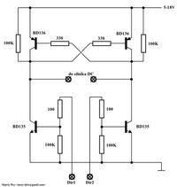 sterowanie silniczkiem dc (mostek H)