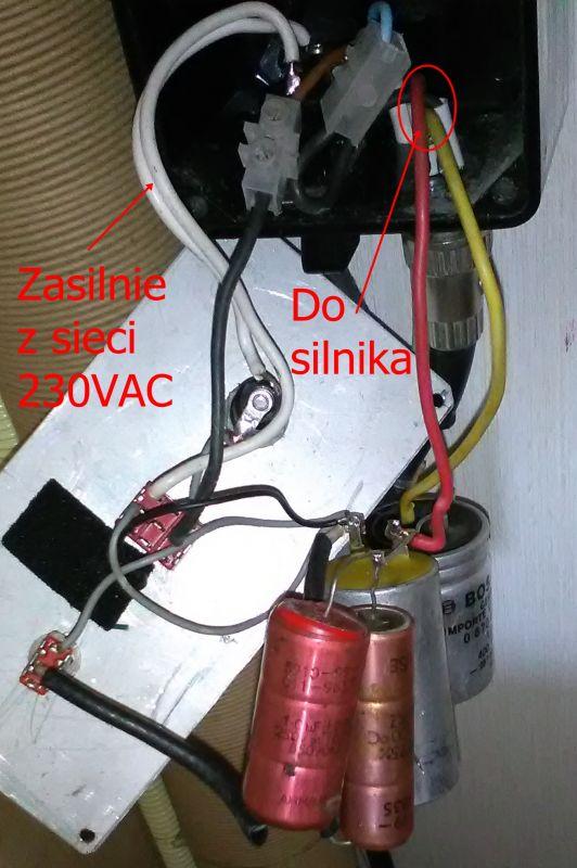 Zasilanie silnika 100V z sieci 230V - dziwne rozwiązanie