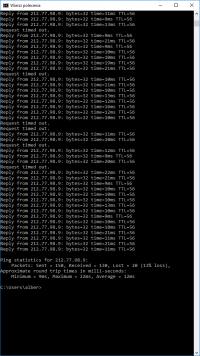 Problem z Internetem - gubienie pakietów, przerwy w dostawie usługi