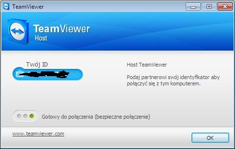 TeamViewer - dziwny klient