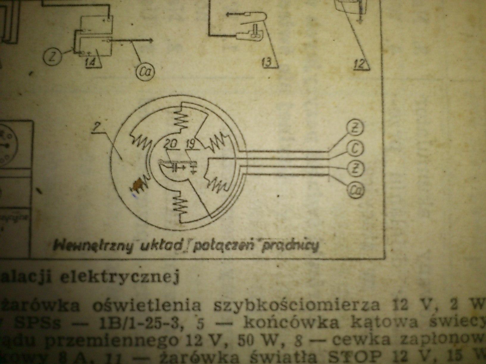Cewki w WSK 175 6V  potrzebne informacje odno�nie cewek w pr�dnicy
