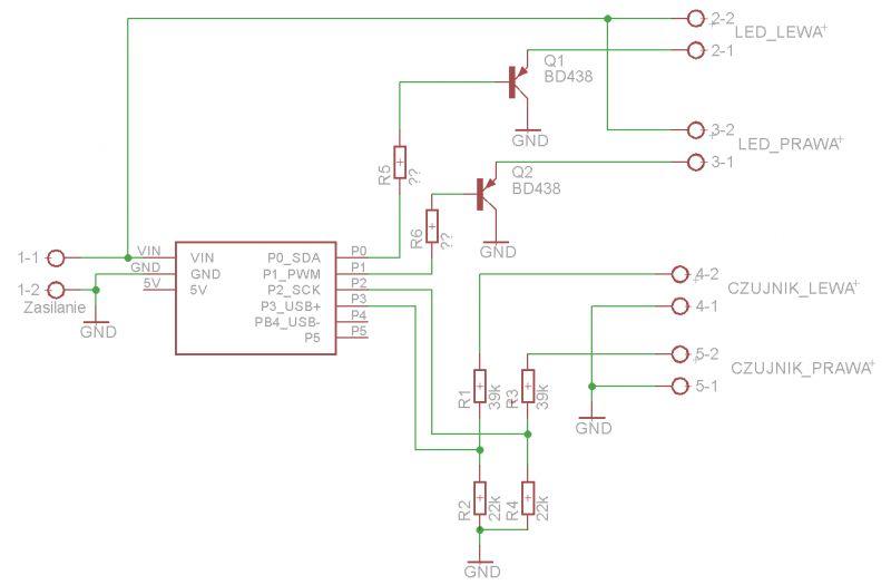 Dobór tranzystorów i rezystorów - sterowanie LED