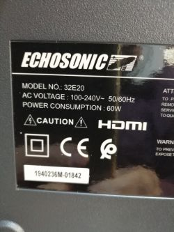 LED TV Echosonic 32e20 DUMP. RECEIVER INTEGRATED.