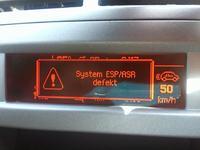 Peugeot 407 1.6 HDI po wymianie nagrzewnicy świeci się ESP