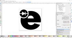 Logo elektrody wśród ikonek serwisów społecznościowych na stronie internetowej