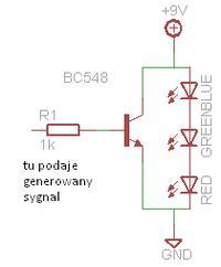 Sterowanie trzema diodami LED