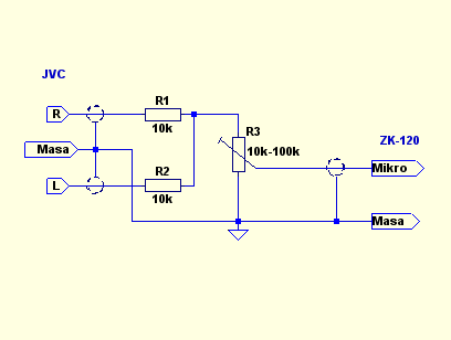 Unitra ZK 120T Nagrywanie dzwieku z wiezy, kabel