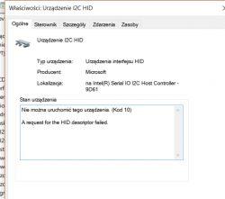 LENOVO Yoga 510-15ISK - Ekran dotykowy nie działa - błąd sterownika