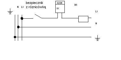Schemat jednokreskowy w bloku