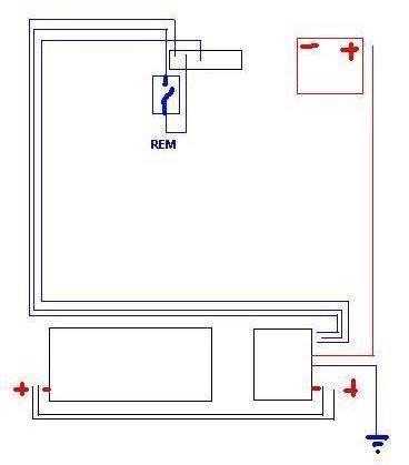 Schemat instalacji tuby i wzmacniacza