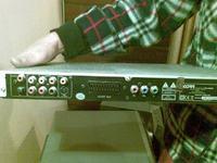 jak podłączyć wzmacniacz karaoke Skytronic 173.742 do DVD