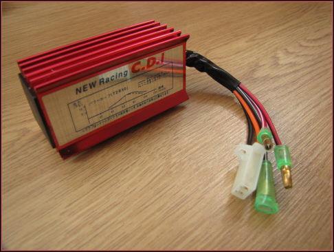 Schemat modułu CDI Chiński Skuter 2T 6 pinów, 2 wtyczki