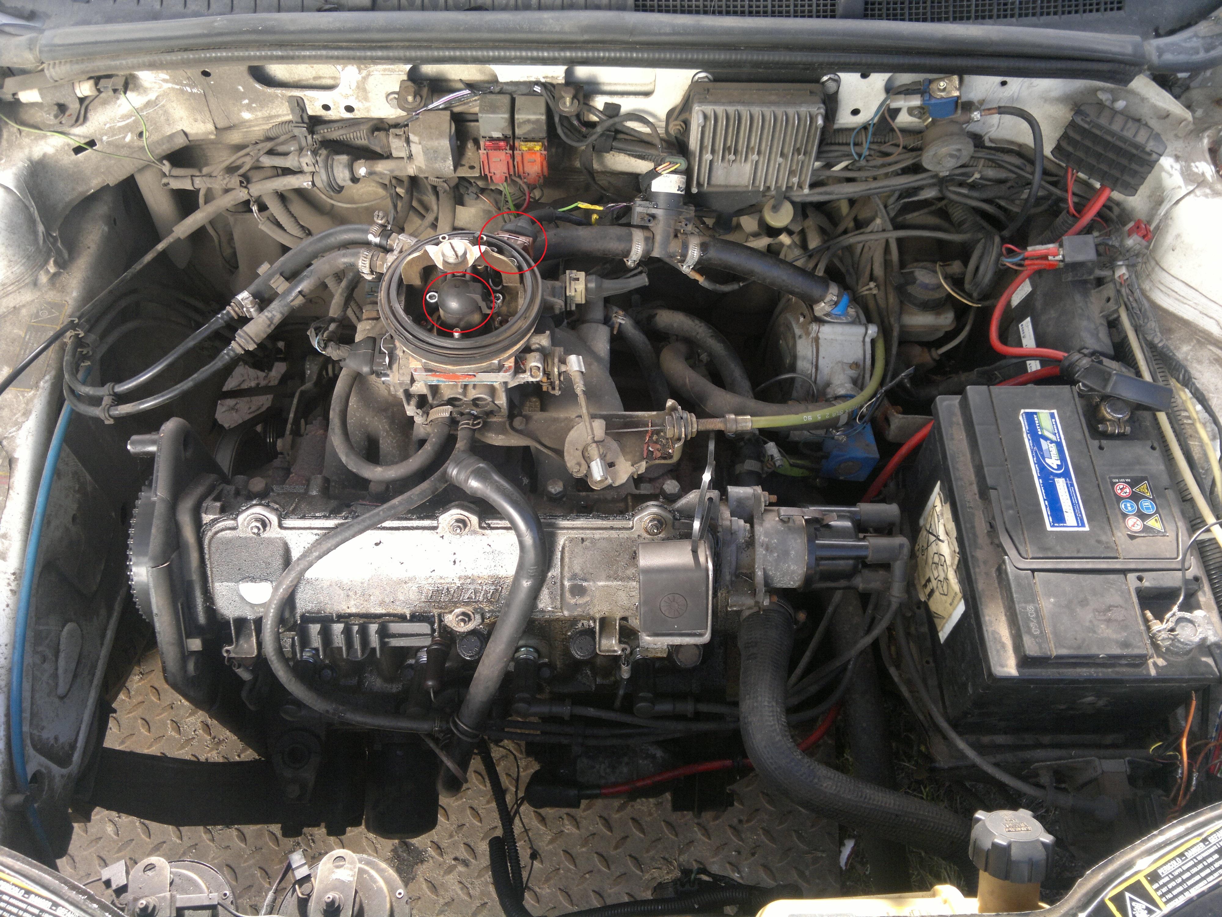 Fiat tipo 1.4 z instalacj� gazow� nie odpala na benzynie