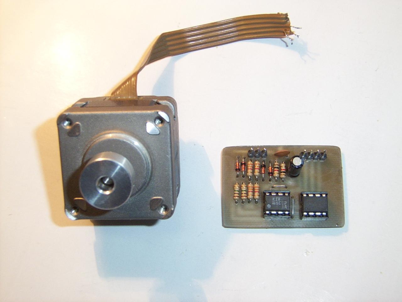 Silnik krokowy jako enkoder/impulsator