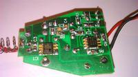 �adowarka samochodowa o�wietlacza LED 8,4V 1A - spalony uk�ad