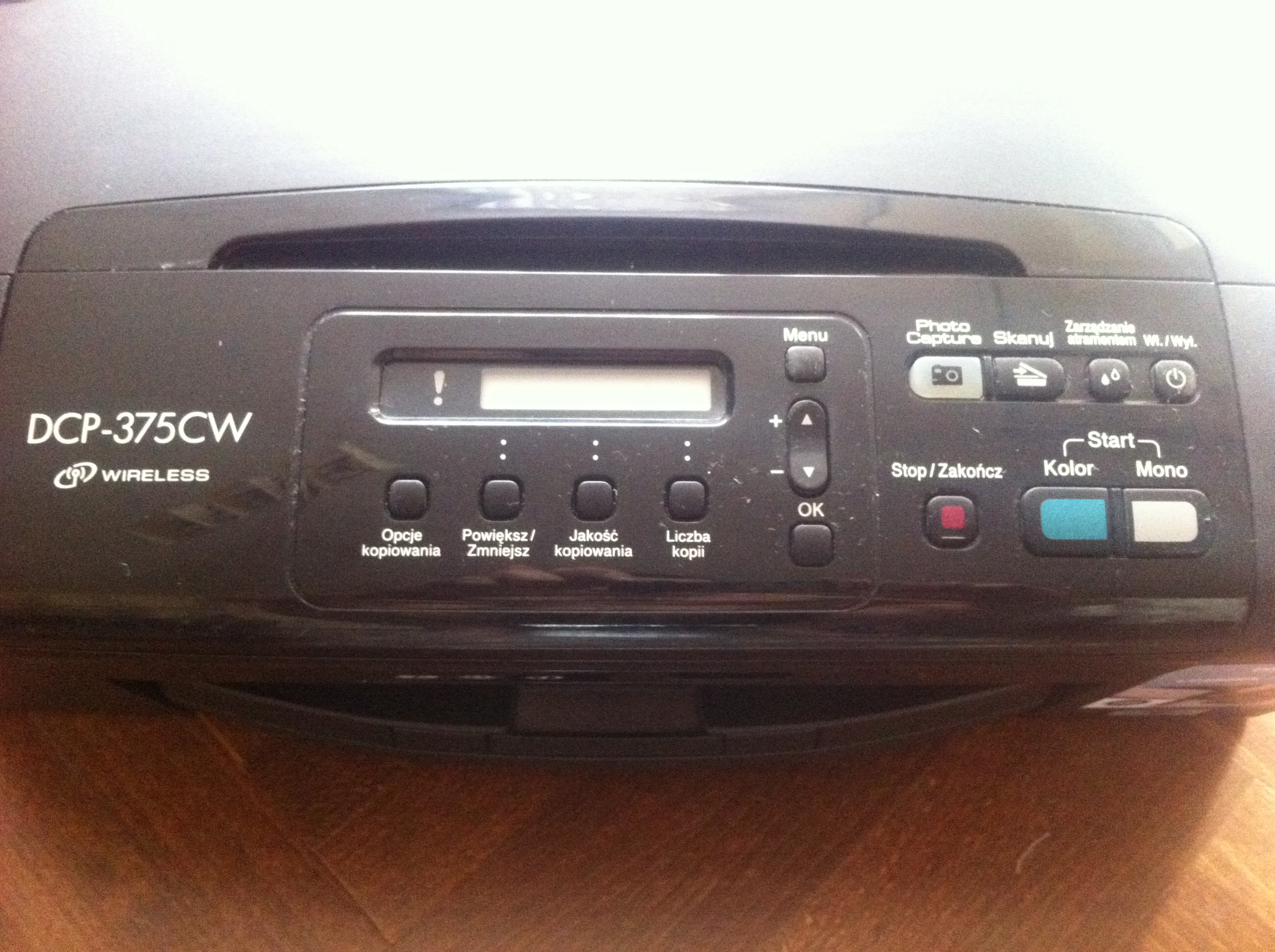 [Sprzedam] Brother DCP-375CW - nie drukuje na czarno
