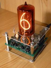 Zegar Nixie z jedn� lamp� Z566M