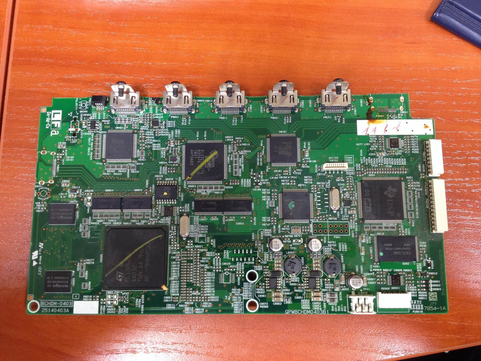 Amplituner Onkyo TX-SR578 Brak sygna�u na HDMI - wej�cia i wyj�cia