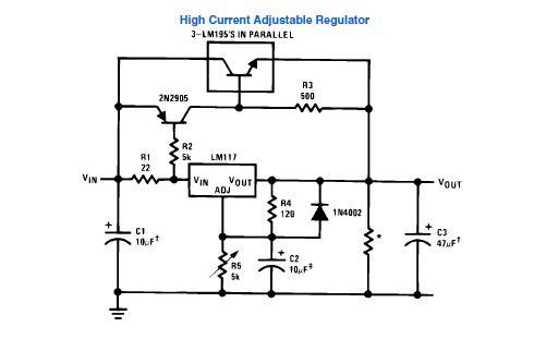 LM317 + TIP147 + BD912 = grzeje się tylko stabilizator