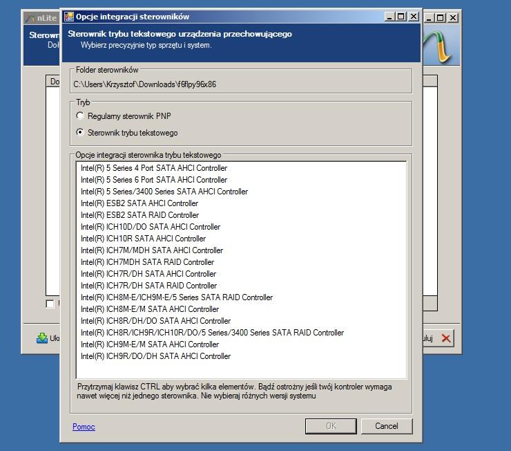 HP DV7 4010SW, instalacja windows xp, sata