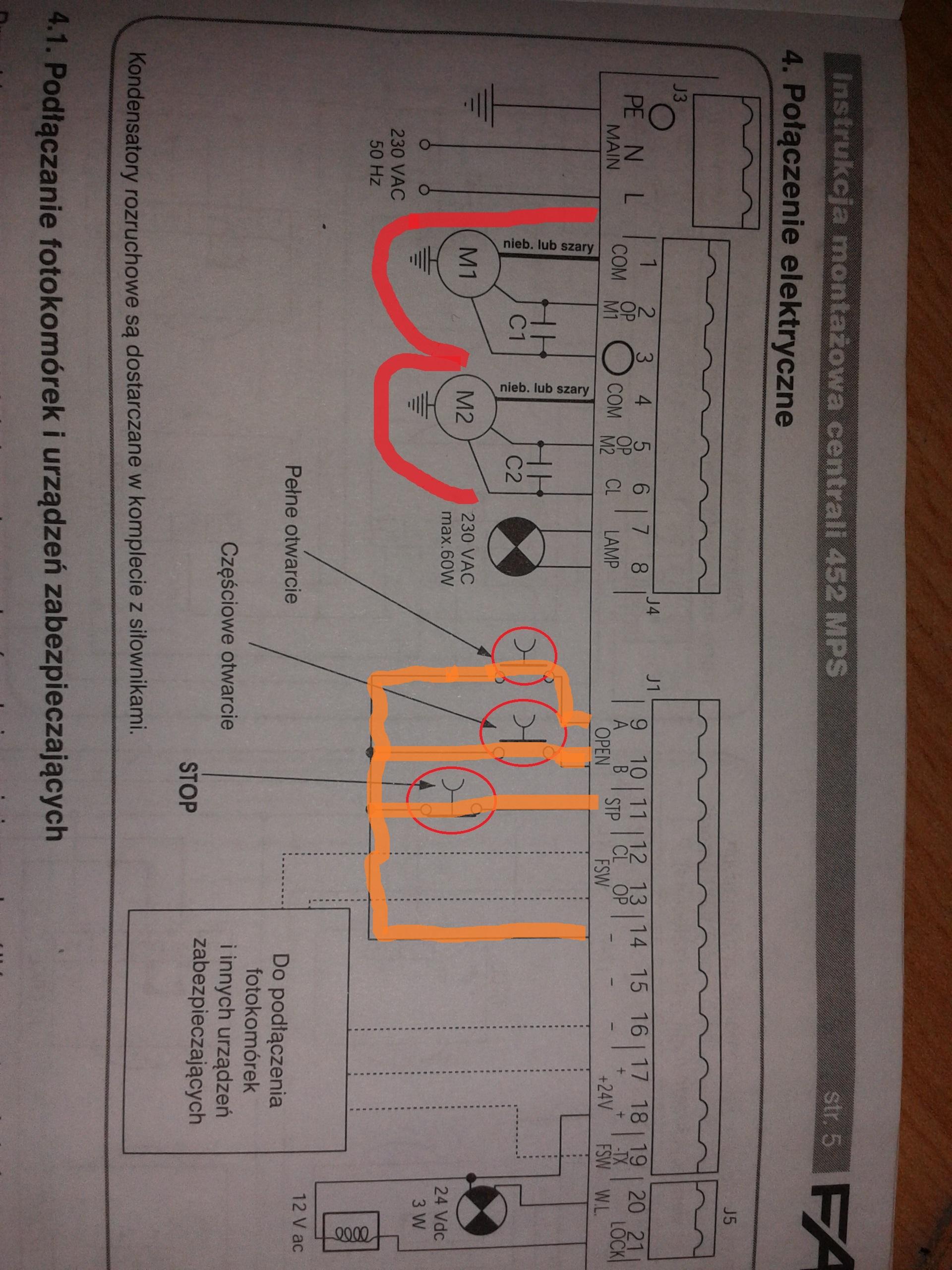 Faac 452 mps pod czenie kondensator w i wyja nienie symbolu for Faac 452 mps schema elettrico
