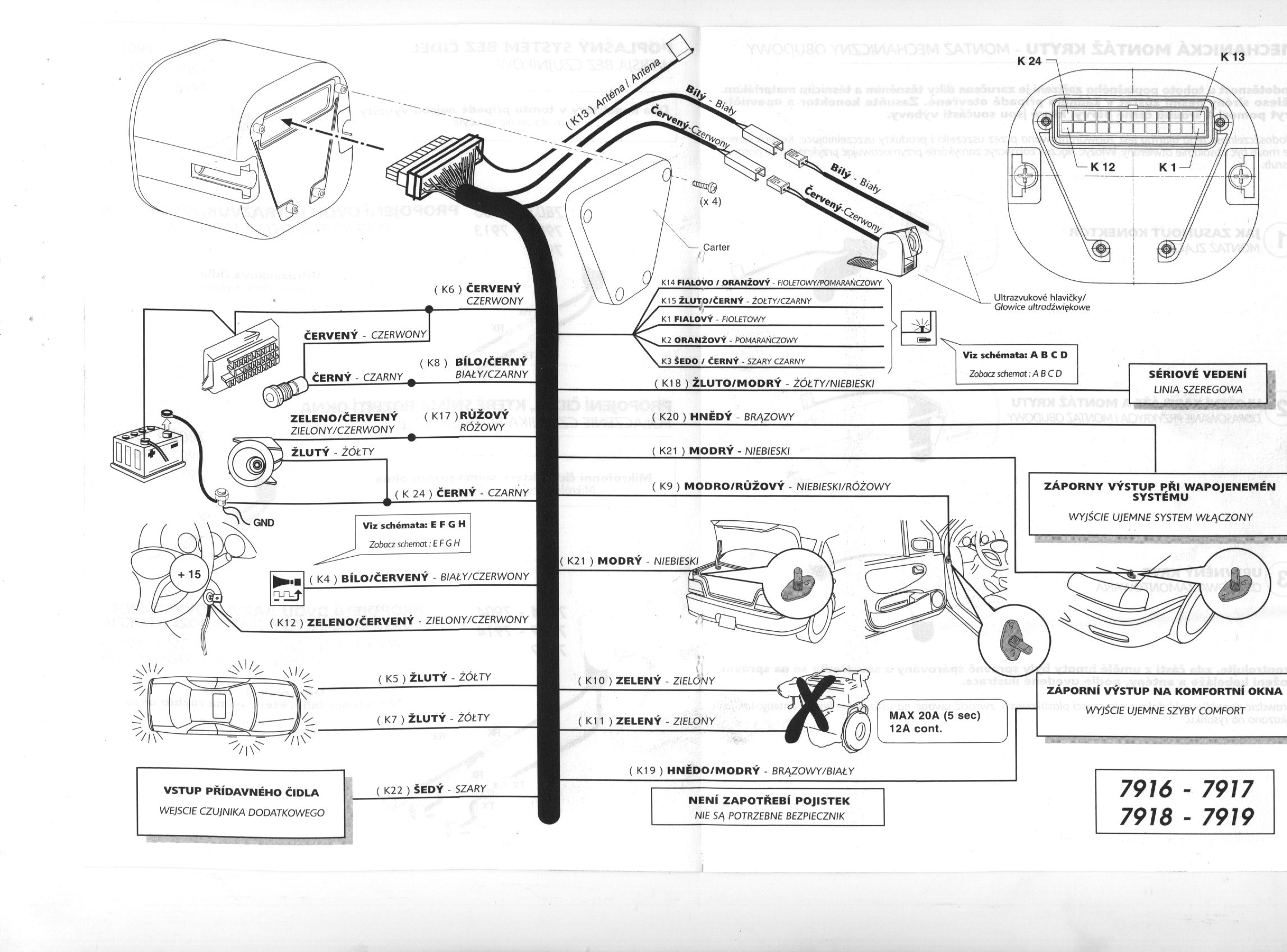 Basic Car Alarm Wiring Diagrams Schematics Viper 5002 Diagram Imetrik Home