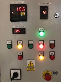Modernizacja pieca do polimeryzacji farb - wielopunktowy pomiar temperatury