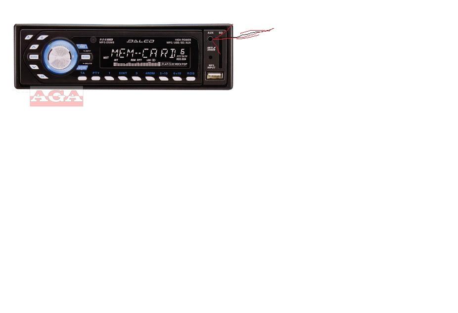Radio samochodowe DALCO MP3-D5M8 jak odbudowa� zniszczone wej�cie AUX (kabel)