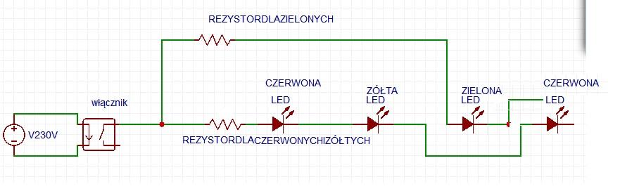 Pod��czenie di�d LED dyfuzyjnych do o�wietlenia �ciany pokoju.