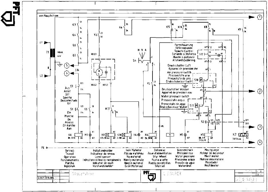 Schemat agregatu tynkarskiego.