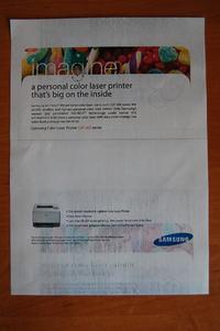 Samsung CLP-300 - brudzi stronę - odbitka na dole strony
