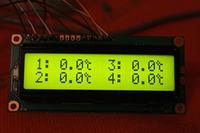 Czteropunktowy termometr na Atmega8.