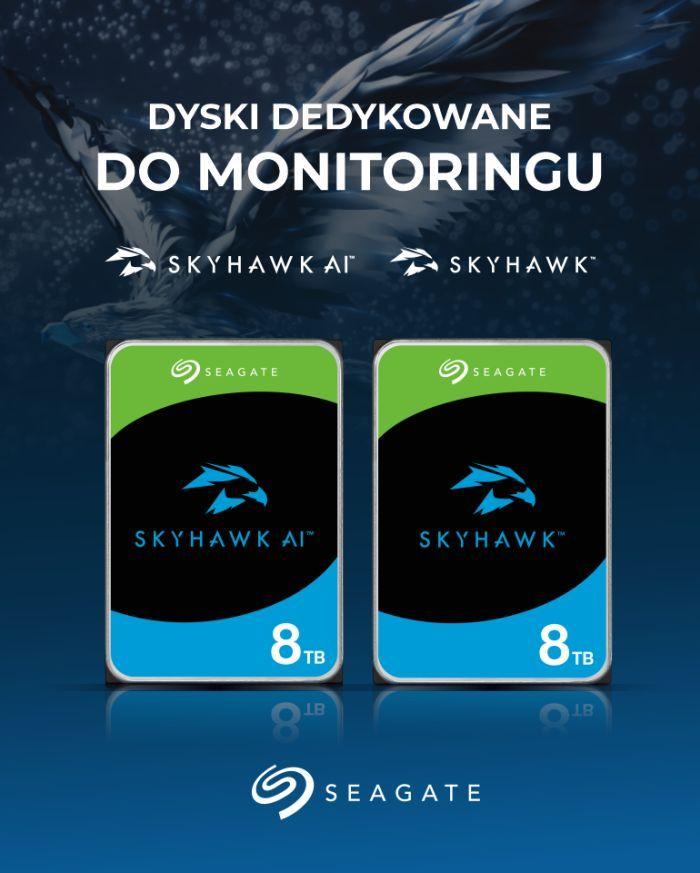 Dyski twarde Seagate Skyhawk i Seagate Skyhawk AI w systemach monitoringu