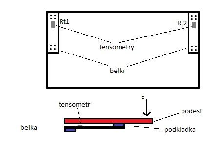 Wzmacniacz r�znicowy na NE555N, tensometry