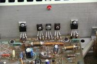 Wzmacniacz Unitra WS 418 - Świecące diody prawego kanału