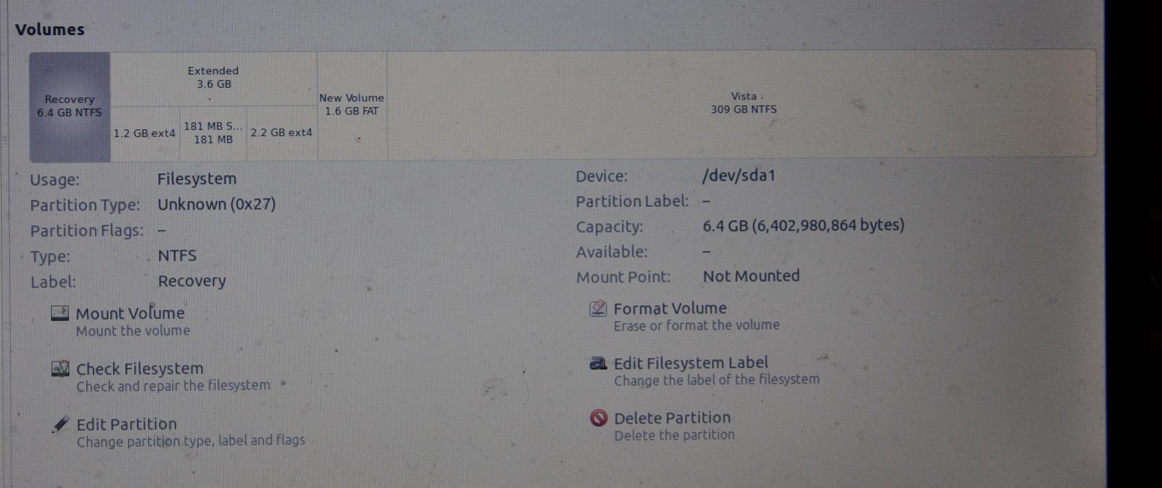 ADVENT 5411 - format partycji systemowej, naprawa startu Windows Vista
