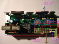 oryginalny wzmacniacz, subwoofer) audi a4 b5 NOKIA tda8563q opis kabli, pinów