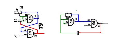 Najprostsze generatory na bramkach logicznych 4011 - materiały / książki