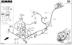 Claas jaguar 850 - Brzęczek jazdy wstecz