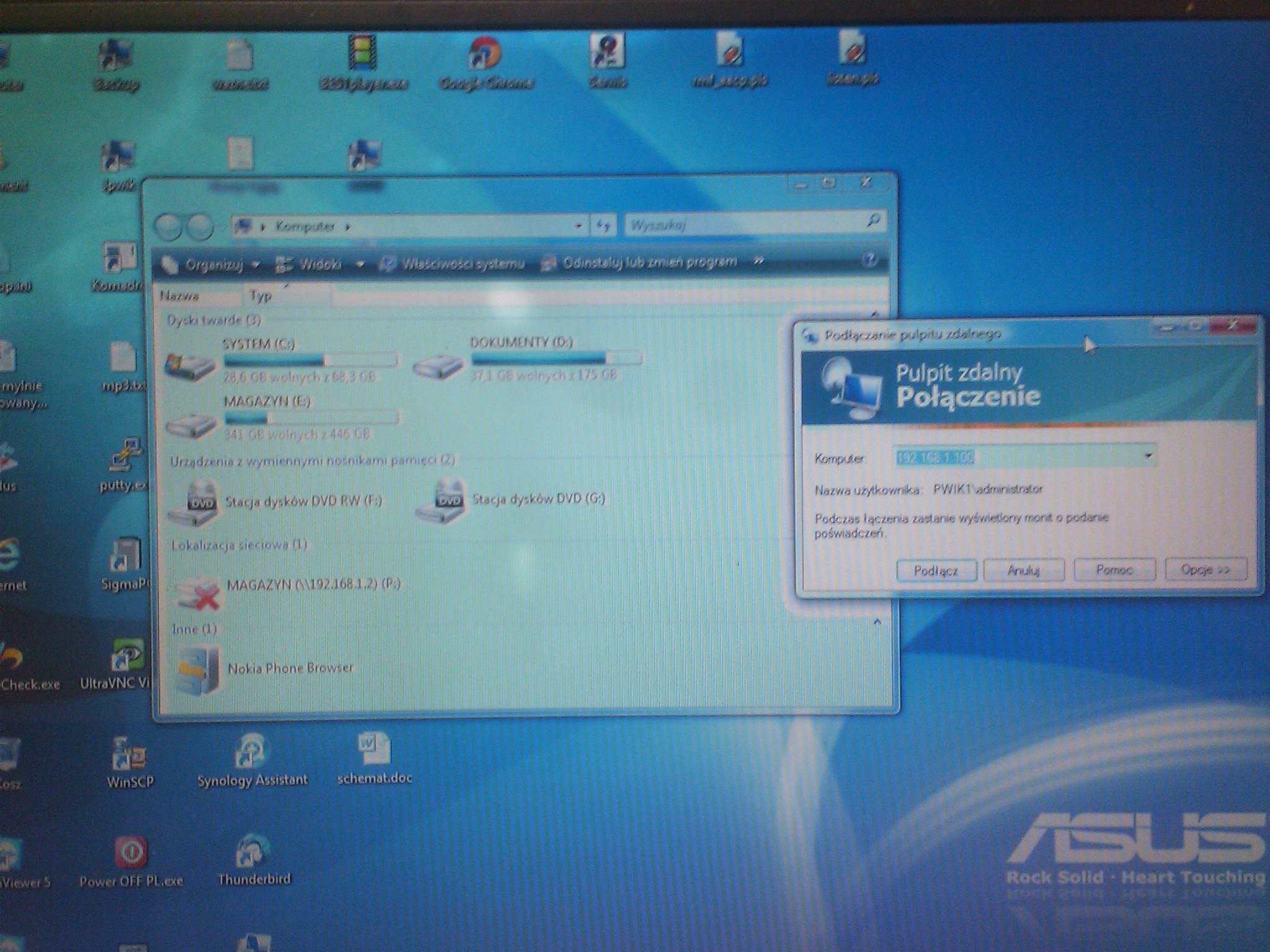 Asus F3Sc - Bia�e pola na ekranie robi� si� niebieskie