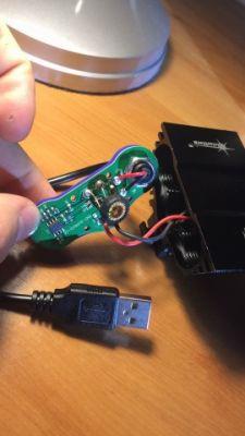 Przerobienie zasilania z USB na baterie