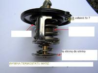 Matiz - wymiana termostatu matiz