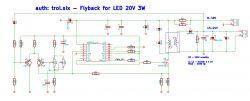 Skromne oświetlenie LED zasilane flyback HV9910