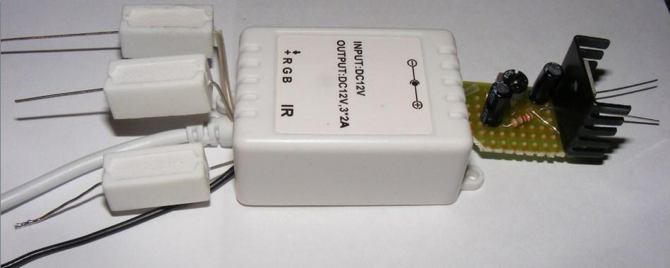 Sterownik LED RGB 12V z stabilizatorem do samochodu