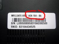 Acer Aspire One ZG5 - netbook nie w��cza si�, brak reakcji przycisku zasilania