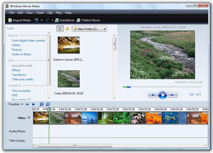 Windows Movie Maker 2.6 - znany program do edycji wideo na Windows 7 i Vist�