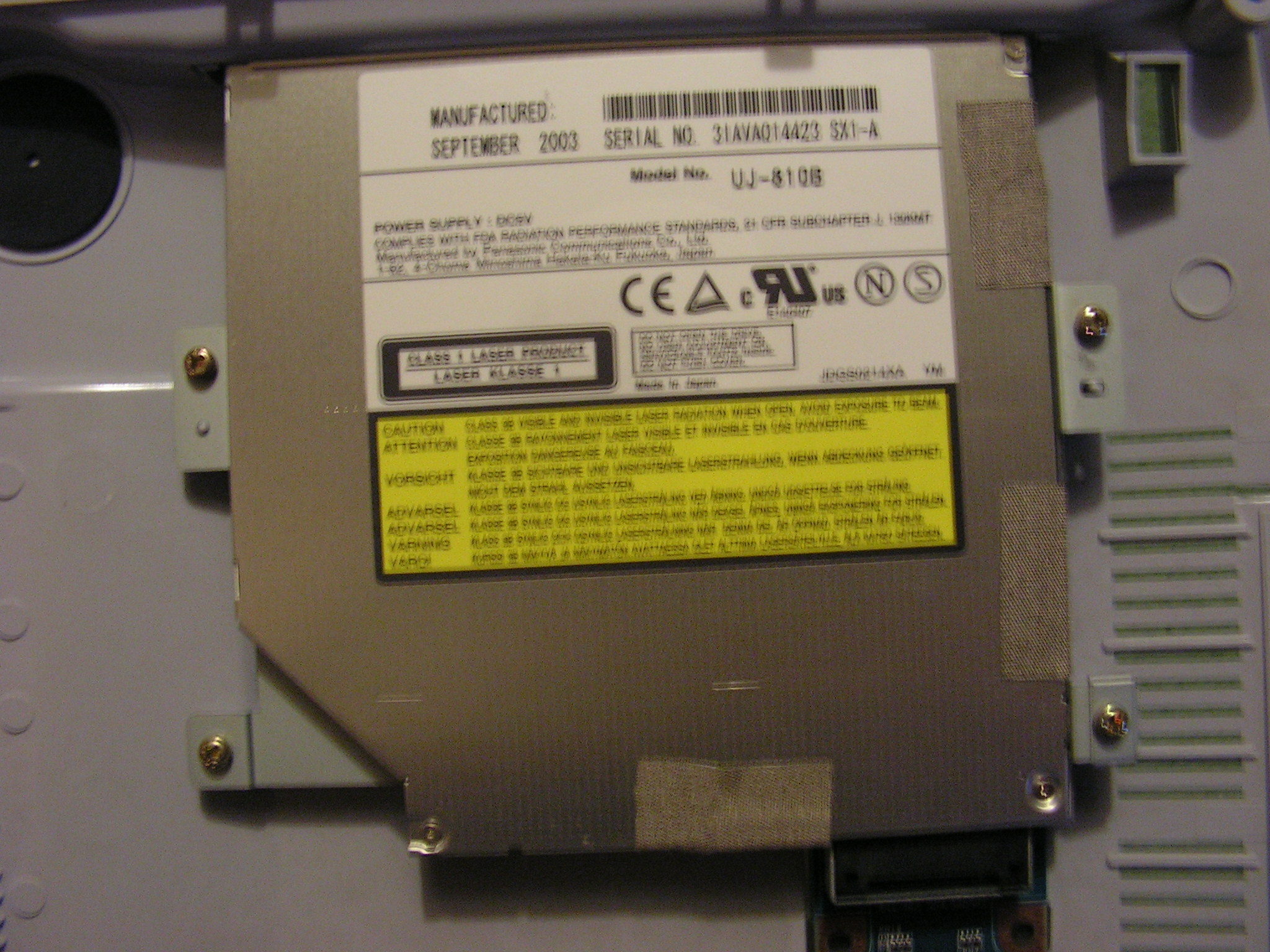 MATSHITA DVD-RAM UJ870BJ DRIVERS FOR WINDOWS VISTA