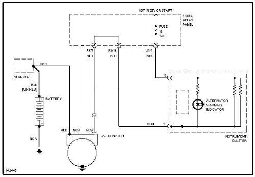 VW PASSAT B5 - Wzbudzenie alternatora przez �ar�wk� 5W